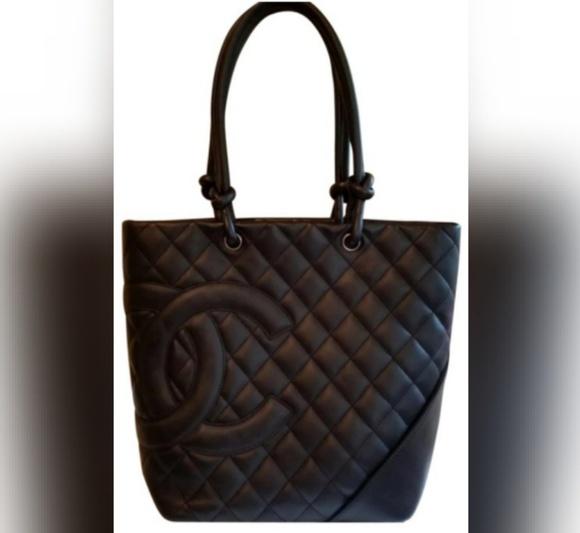 a35a5dbc8be3 CHANEL Handbags - Chanel Black Calfskin CC Logo